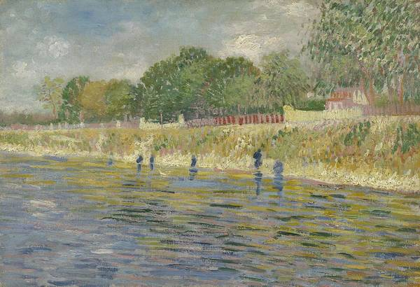 Painting - Bank Of The Seine Paris, May - July 1887 Vincent Van Gogh 1853  1890 by Artistic Panda