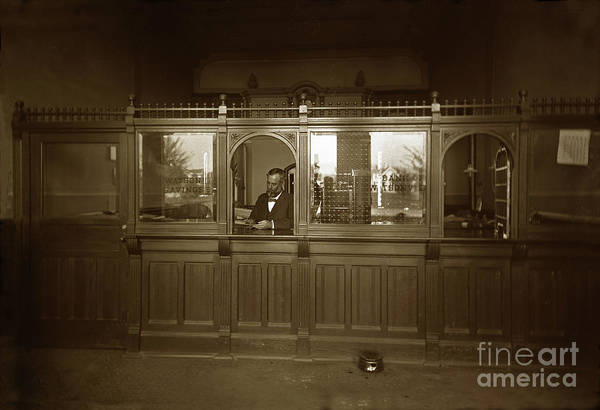Photograph - Bank Of Watsonville, California Circa 1900 by California Views Archives Mr Pat Hathaway Archives