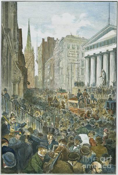 Wall Art - Photograph - Bank Panic, 1884 by Granger