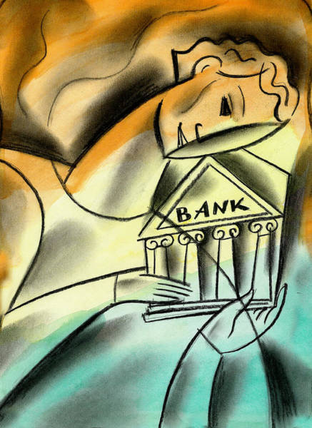 Capitalism Wall Art - Painting - Banking by Leon Zernitsky