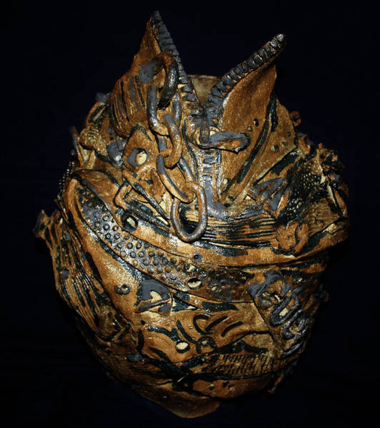 Sculpture - Bankrupt - Front View by Gloria Ssali
