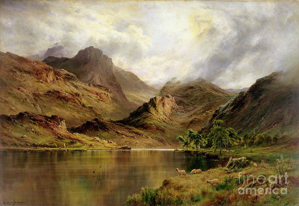 Mountain Lake Painting - Banks Of Arrochar by Alfred de Breanski