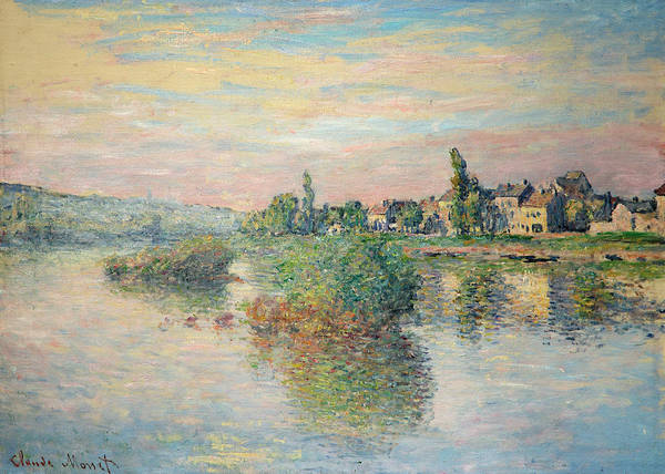 Wall Art - Painting - Banks Of The Seine At Lavacourt by Claude Monet