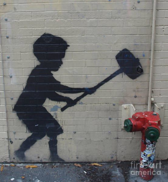 Banksy In New York Art Print