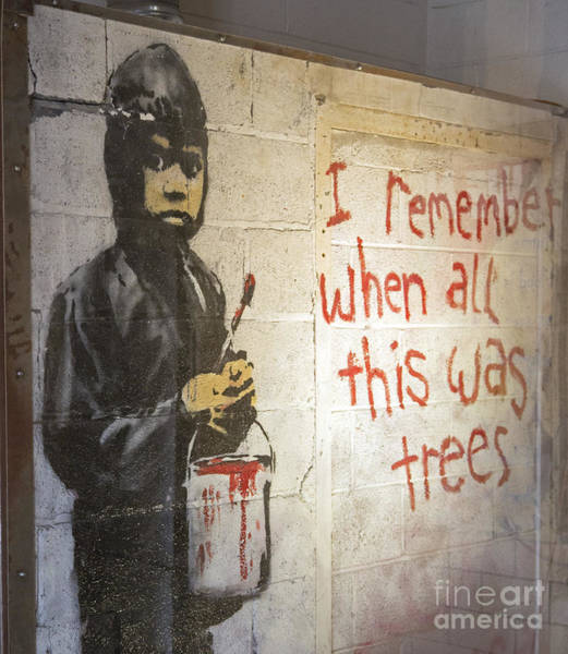Photograph - Banksy by Jim West