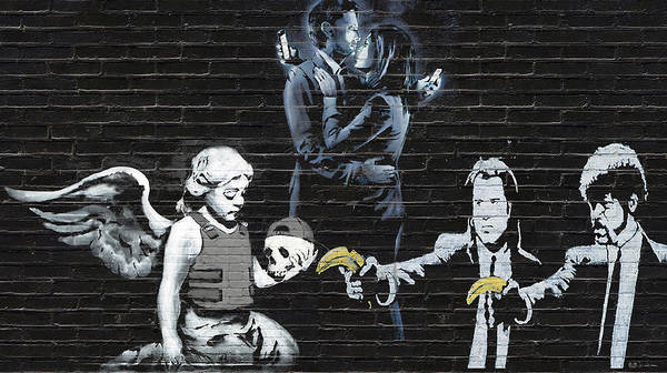 Digital Art - Banksy - The Tribute - Failure To Communicate by Serge Averbukh