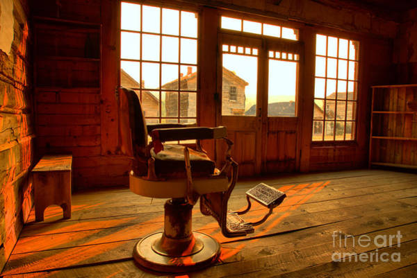 Photograph - Bannack Barber Chair by Adam Jewell