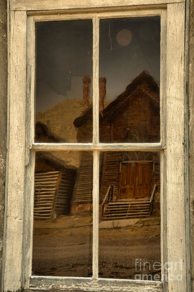 Photograph - Bannack Church Reflections by Adam Jewell