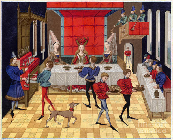 Photograph - Banquet, 15th Century by Granger