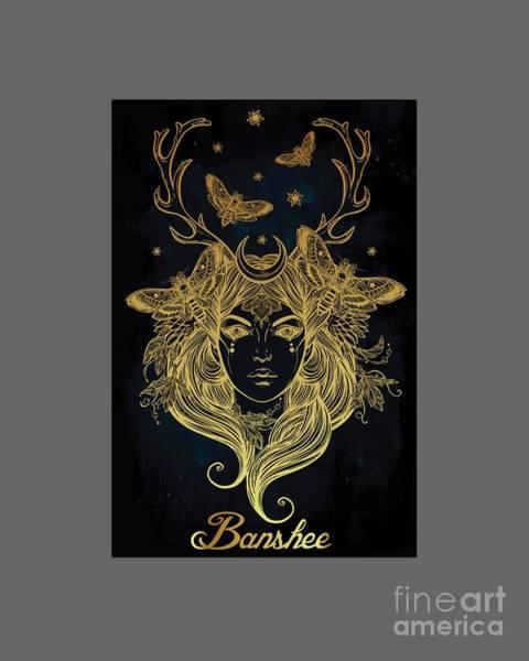 Satanism Digital Art - Banshee by Frederick Holiday