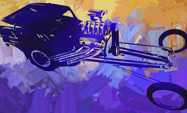 Digital Art - Bantam Dragster Pop by David King