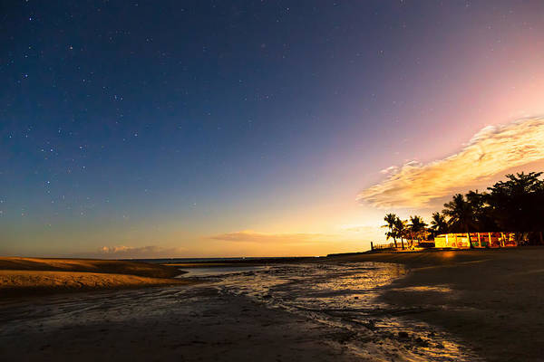 Photograph - Bantayan Low Tide Nighttime View by James BO Insogna