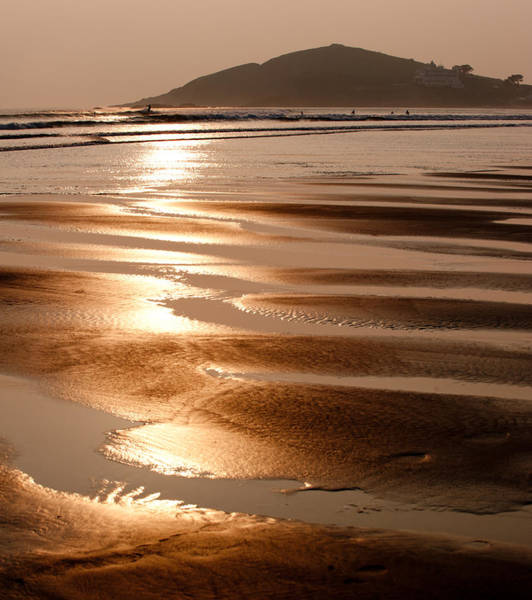 Photograph - Bantham Beach Sunset II by Helen Northcott