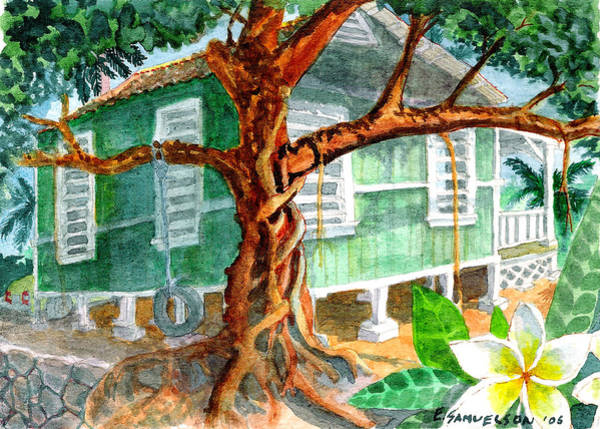 Painting - Banyan In The Backyard by Eric Samuelson