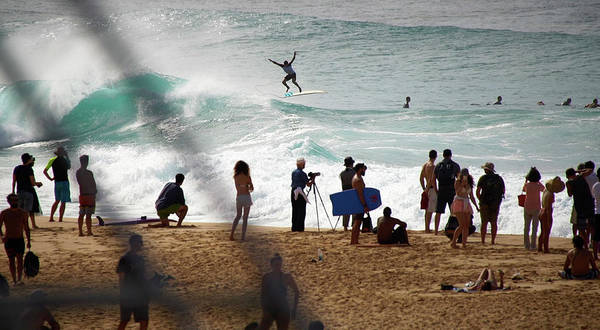 Wall Art - Photograph - Banzai Pipeline Acrobats by Kevin Smith
