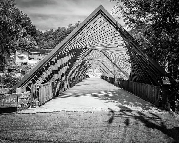 Photograph - Baoxi Double Helix Bridge by William Dickman