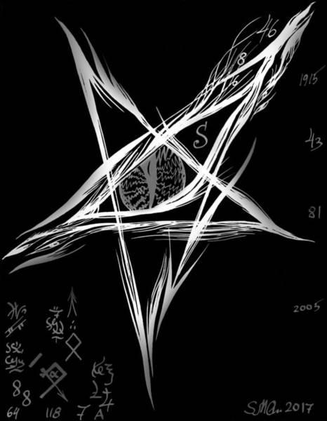 Satanism Digital Art - Baphomet's Eye. Darkness by Sofia Metal Queen