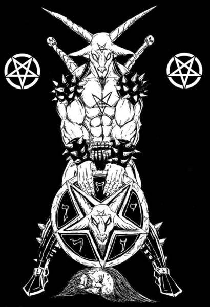 Demonic Drawing - Baphomet's Shield by Alaric Barca