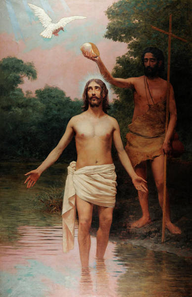 Ascension Painting - Baptism Of Christ by Almeida Junior