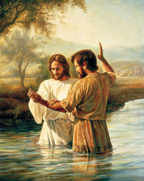 Christian Wall Art - Painting - Baptism Of Christ by Greg Olsen