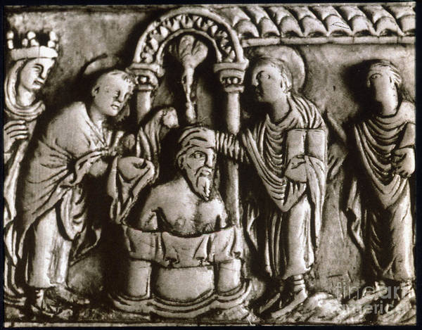 Artifact Painting - Baptism Of Clovis I, 496 A.d by Granger