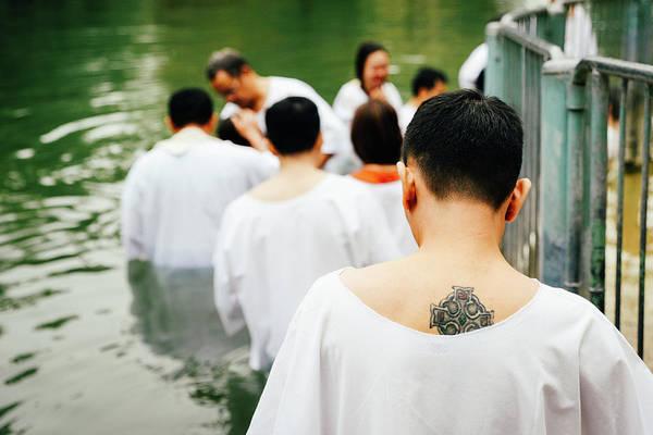 Photograph - Baptism On The River Jordan, Israel by Alexandre Rotenberg