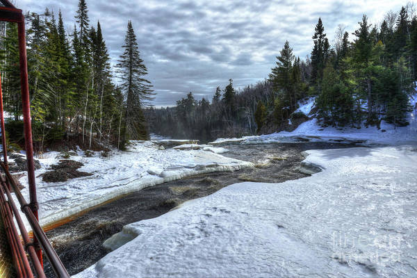 Photograph - Baptism River Falls Tettegouche State Park Minnesota by Wayne Moran