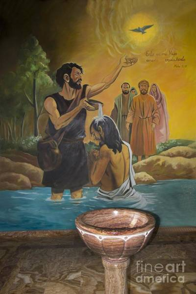 Wall Art - Photograph - Baptismal Font In San Fernando - Ecuador by Al Bourassa