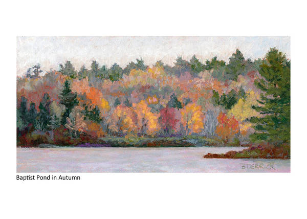 Painting - Baptist Pond In Autumn by Betsy Derrick