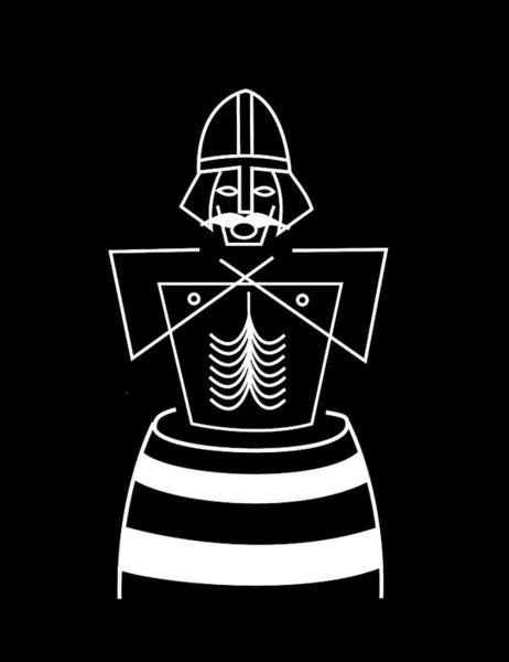Dane Mixed Media - Baptizing Harold Bluetooth by Asbjorn Lonvig