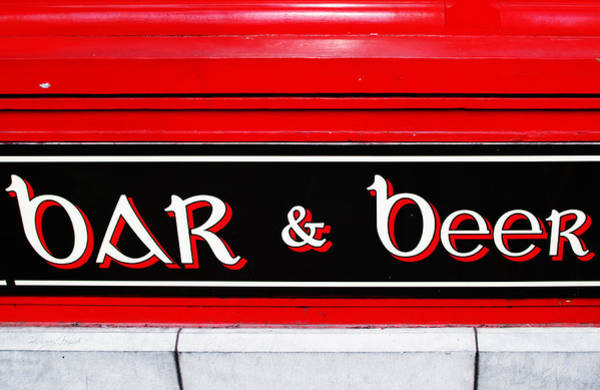 Photograph - Bar And Beer by Sharon Popek