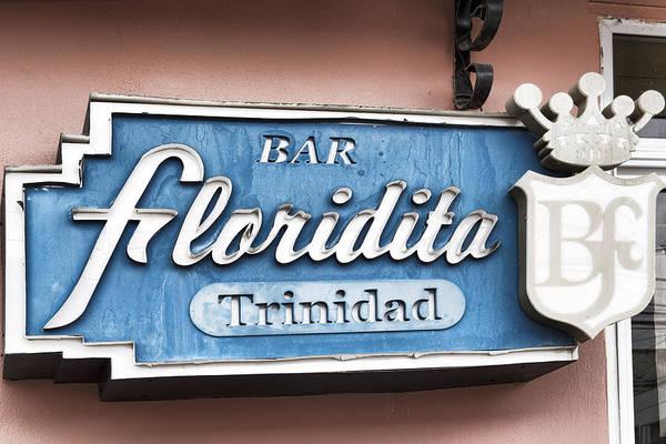 Photograph - Bar Floridita Trinidad by Sharon Popek