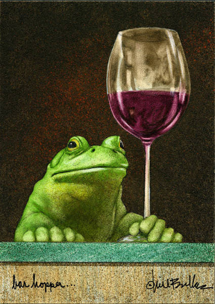 Frog Painting - Bar Hopper... by Will Bullas