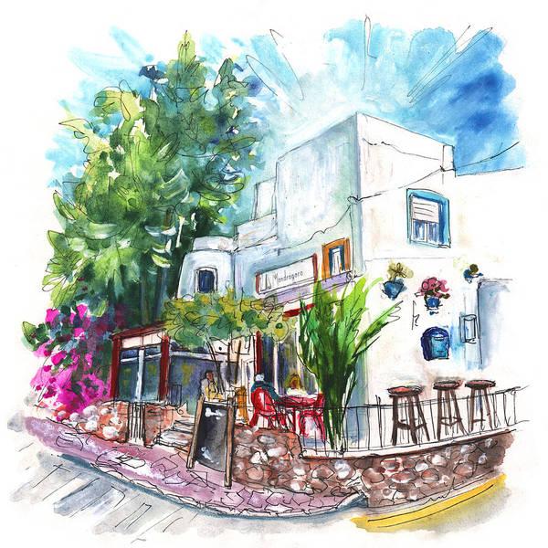 Wall Art - Painting - Bar La Mandragora In San Jose by Miki De Goodaboom