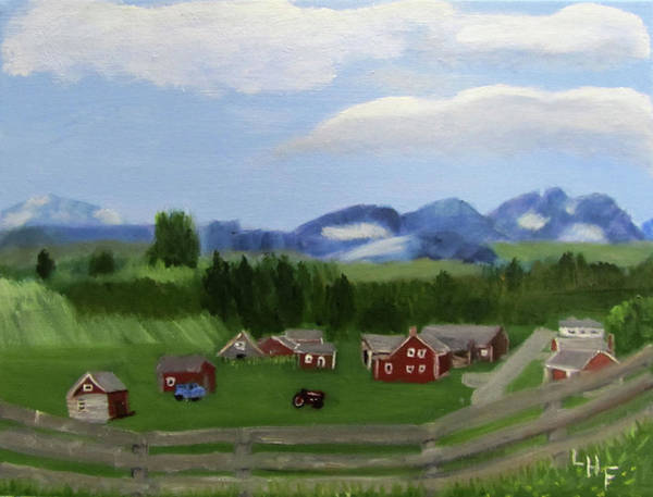 Painting - Bar U Ranch by Linda Feinberg