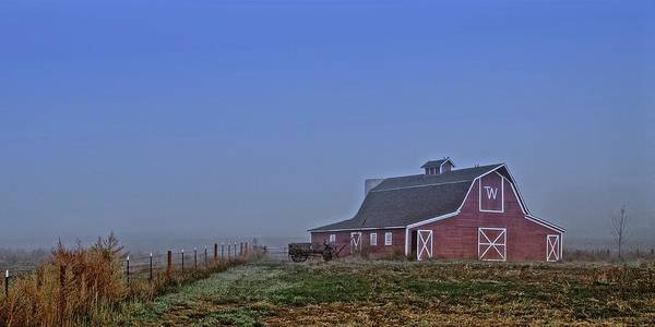 Photograph - Bar W Barn And The Hay Wagon by Flying Z Photography by Zayne Diamond