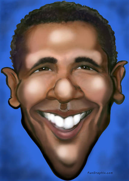Painting - Barack Obama by Kevin Middleton
