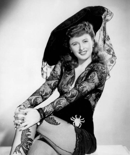 Stocking Wall Art - Photograph - Barbara Stanwyck by American School