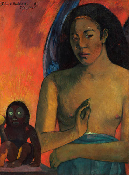 Poem Painting - Barbarian Poems by Paul Gauguin