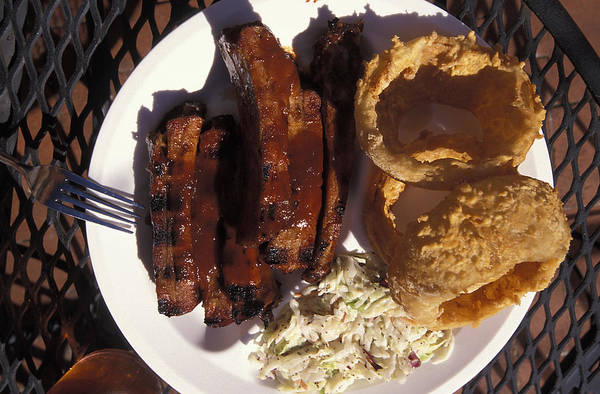 Barbeque Photograph - Barbeque Ribs Dinner At Sonny Bryans by Richard Nowitz