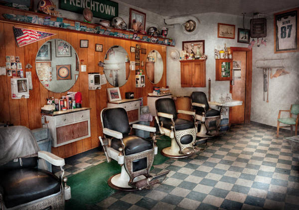 Stylists Wall Art - Photograph - Barber - Frenchtown Barbers  by Mike Savad