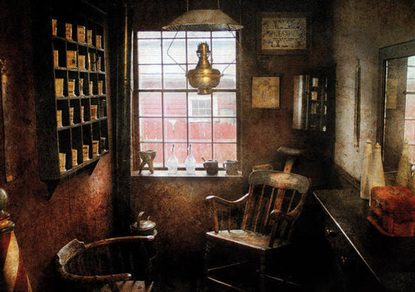 Photograph - Barber - Remembering The Old Days by Mike Savad