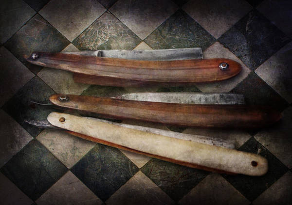 Photograph - Barber - The Razor  by Mike Savad