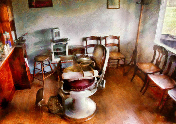 Photograph - Barber - We Accept Children by Mike Savad
