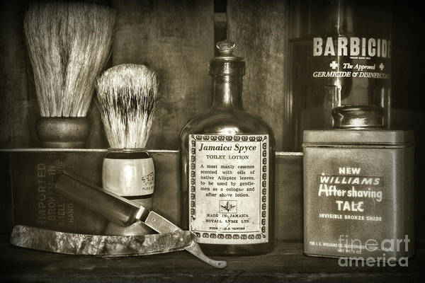 Taper Photograph - Barber-after The Shave Retro Style by Paul Ward