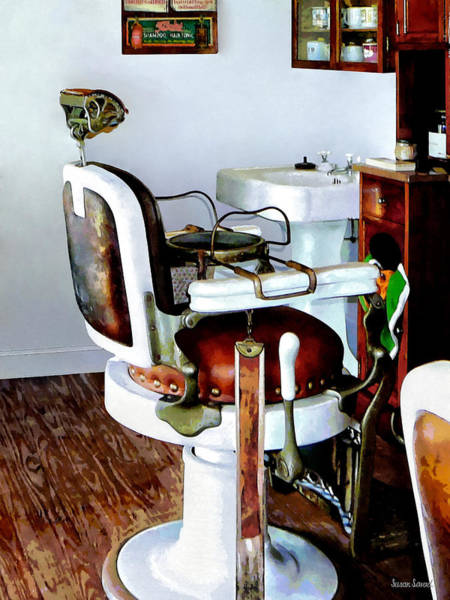 Photograph - Barber Chair by Susan Savad
