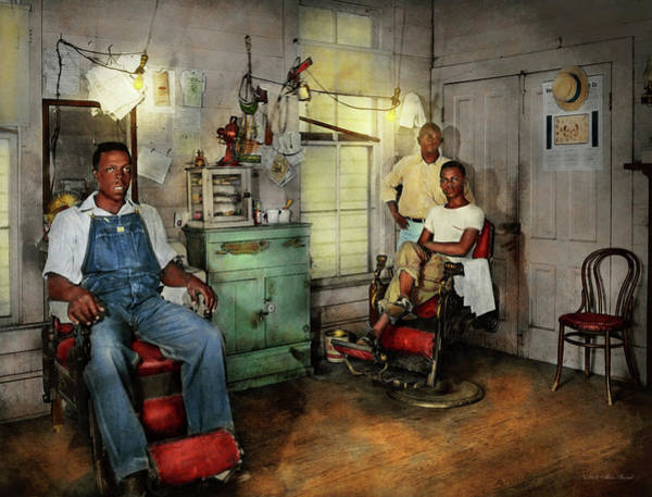 Photograph - Barber - Family Owned 1942 by Mike Savad