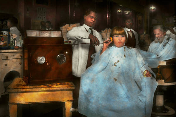 Photograph - Barber - Portable Music Player 1921 by Mike Savad