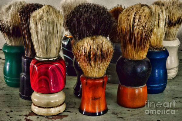 Wall Art - Photograph - Barber - Shaving Brush Collection by Paul Ward