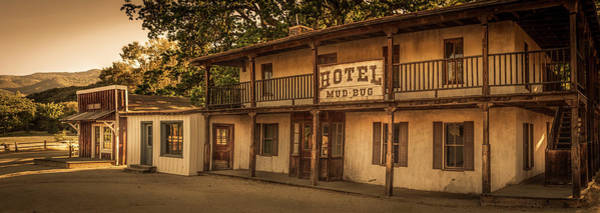 Photograph - Barber Shop And Hotel Mud Bug - Panorama by Gene Parks